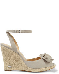 MICHAEL Michael Kors Michl Michl Kors Willa Suede Espadrille Wedge Sandals Gray