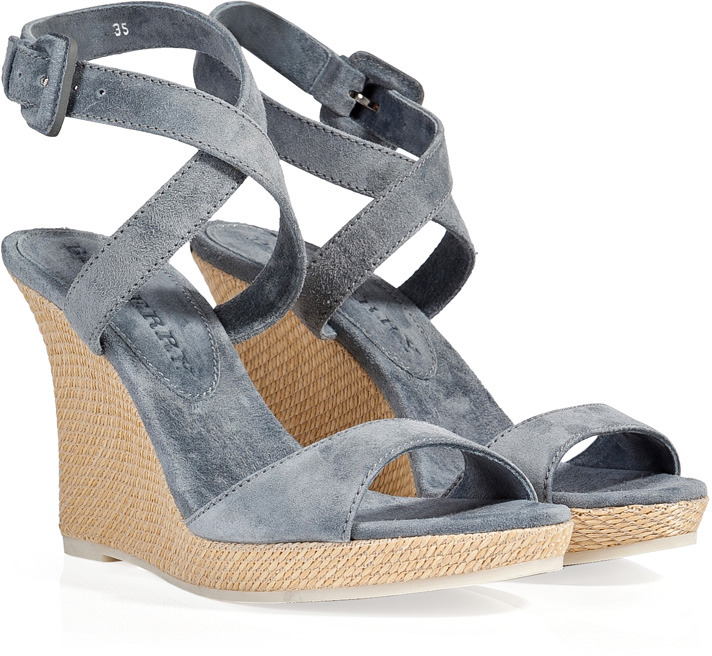 Burberry Shoes Accessories Suede Wedge