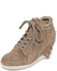 Ash Beatnik Fringe Wedge Sneakers