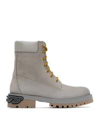 Vetements Grey New Trucker Boots