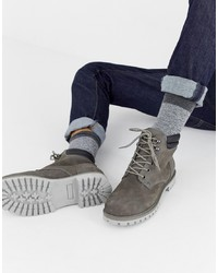 Jack & Jones Lace Up Nubuck Boots