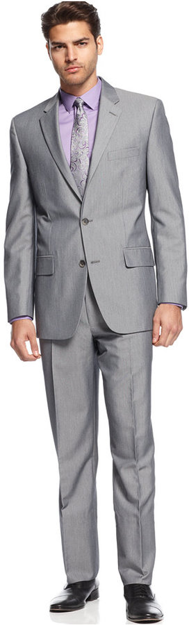 Alfani Suit Light Grey Heather | Where to buy & how to wear