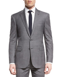 Ralph Lauren Anthony Two Piece Sharkskin Suit Light Gray