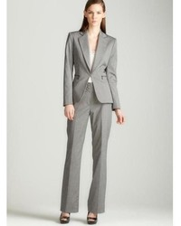 Tahari Asl Grey Pants Suit