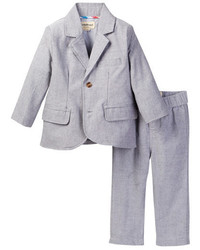 Beetle Thread Grey Oxford Suit