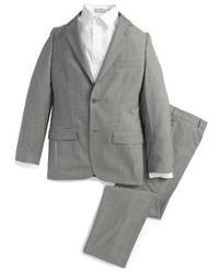 Boys Jb Jr Pearl Grey Wool Suit