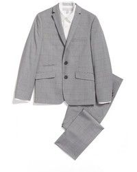 Andrew Marc Boys Windowpane Plaid Suit