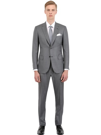 Brioni Wool And Silk Chevron Herringbone Suit | Where to buy & how