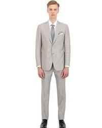 Brioni Wool Blend Micro Striped Slim Fit Suit