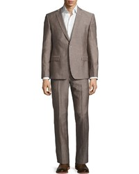 Versace Collection Slim Fit Two Piece Wool Blend Pindot Suit Light Gray