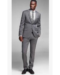 Express Gray Photographer Suit Jacket