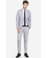 Express Light Gray Oxford Cloth Innovator Suit Pant