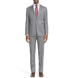 Armani Collezioni G Line Trim Fit Solid Wool Suit