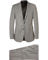 Balenciaga Grey Slim Fit Flecked Wool Blend Suit
