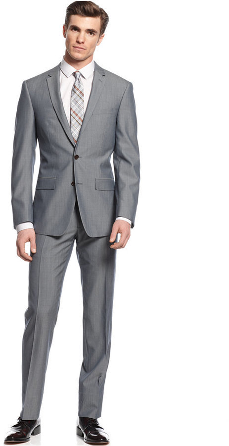 DKNY Grey Suit Extra Slim Fit   Where to buy & how to wear