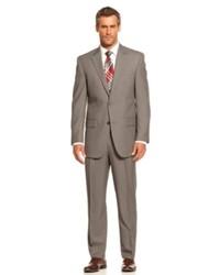 Izod Suit Grey Birdseye Classic Fit