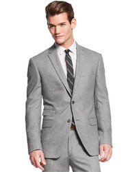 DKNY Light Grey Donegal Extra Slim Fit Suit | Where to buy & how ...