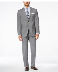 Tommy Hilfiger Light Grey Sharkskin Slim Fit Stretch Performance Suit