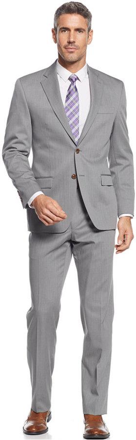 Lauren Ralph Lauren Light Grey Solid Classic Fit Suit | Where to ...