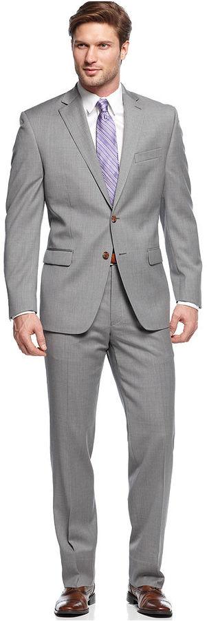 Lauren Ralph Lauren Light Grey Solid Suit | Where to buy & how to wear