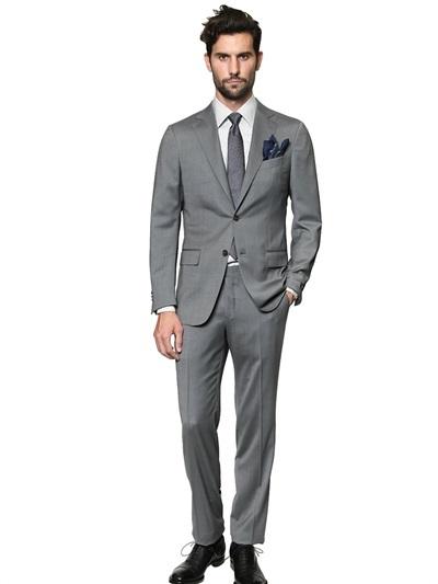 lowest price 70593 d5b7c $2,820, Ermenegildo Zegna Milano Easy Wool Satin Suit