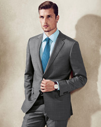 Ermenegildo Zegna Sharkskin Suit Gray | Where to buy & how to wear