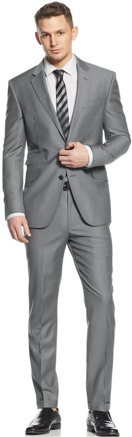 Kenneth Cole New York Slate Grey Slim Fit Suit | Where to buy ...