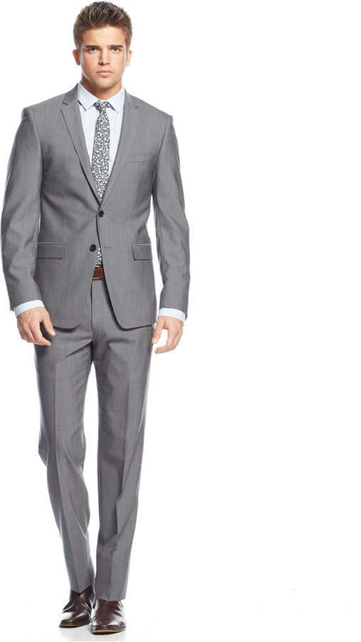DKNY Solid Grey Extra Slim Fit Suit | Where to buy & how to wear