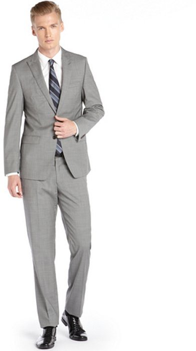 T Tahari Tahari Light Gray Mini Check Modern Fit Wool Suit | Where ...