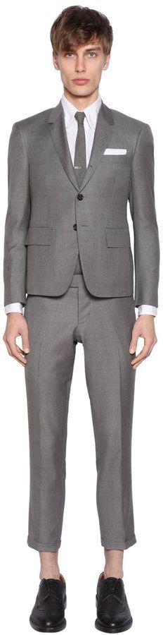 66f83d581fc3 Light Wool Gabardine Suit. Grey Suit by Thom Browne