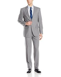 Tommy Hilfiger Vasser Side Vent Suit 2 Button Light Gray Long