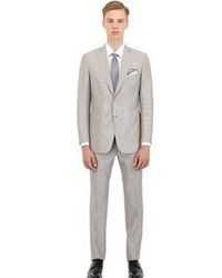 Brioni Wool Blend Micro Striped Slim Fit Suit