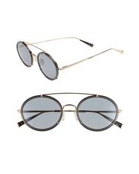 Max Mara 51mm Round Aviator Sunglasses