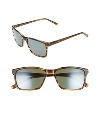 Ted Baker London 55mm Polarized Rectangle Sunglasses