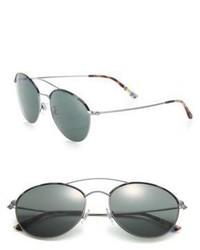 Giorgio Armani 55mm Round Sunglasses