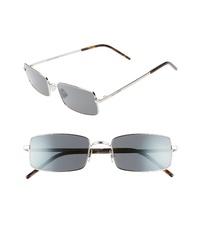 Saint Laurent 56mm Polarized Rectangular Metal Sunglasses