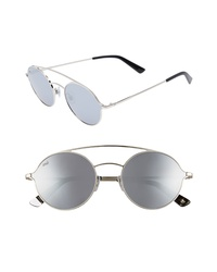 WEB 56mm Round Aviator Sunglasses