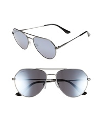 ED Ellen Degeneres 57mm Aviator Sunglasses