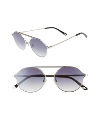 WEB 57mm Round Sunglasses