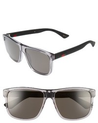 Gucci 58mm Polarized Sunglasses Transparent Grey W Grey Plr