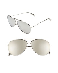 Celine 61mm Mirrored Aviator Sunglasses