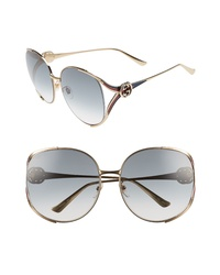Gucci 63mm Open Temple Sunglasses
