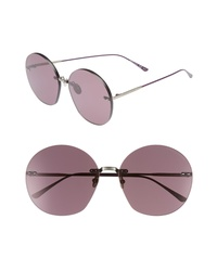 Bottega Veneta 63mm Round Sunglasses