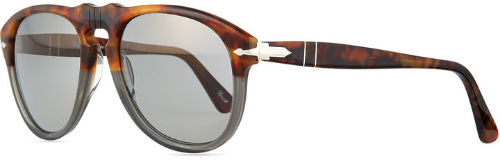 b464a94884ce4 ... Persol 649 Series Acetate Sunglasses Graytortoise ...