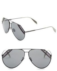 Alexander McQueen 65mm Aviator Sunglasses