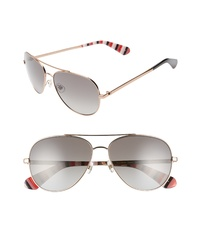 kate spade new york Avaline 2 58mm Polarized Aviator Sunglasses
