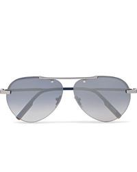 Ermenegildo Zegna Aviator Style Gunmetal Tone Sunglasses