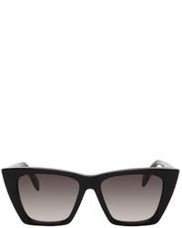 Alexander McQueen Black Cat Eye Sunglasses