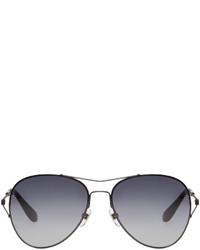 Givenchy Black Wire Frame Aviator Sunglasses
