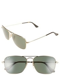 Caravan 58mm aviator sunglasses medium 603718